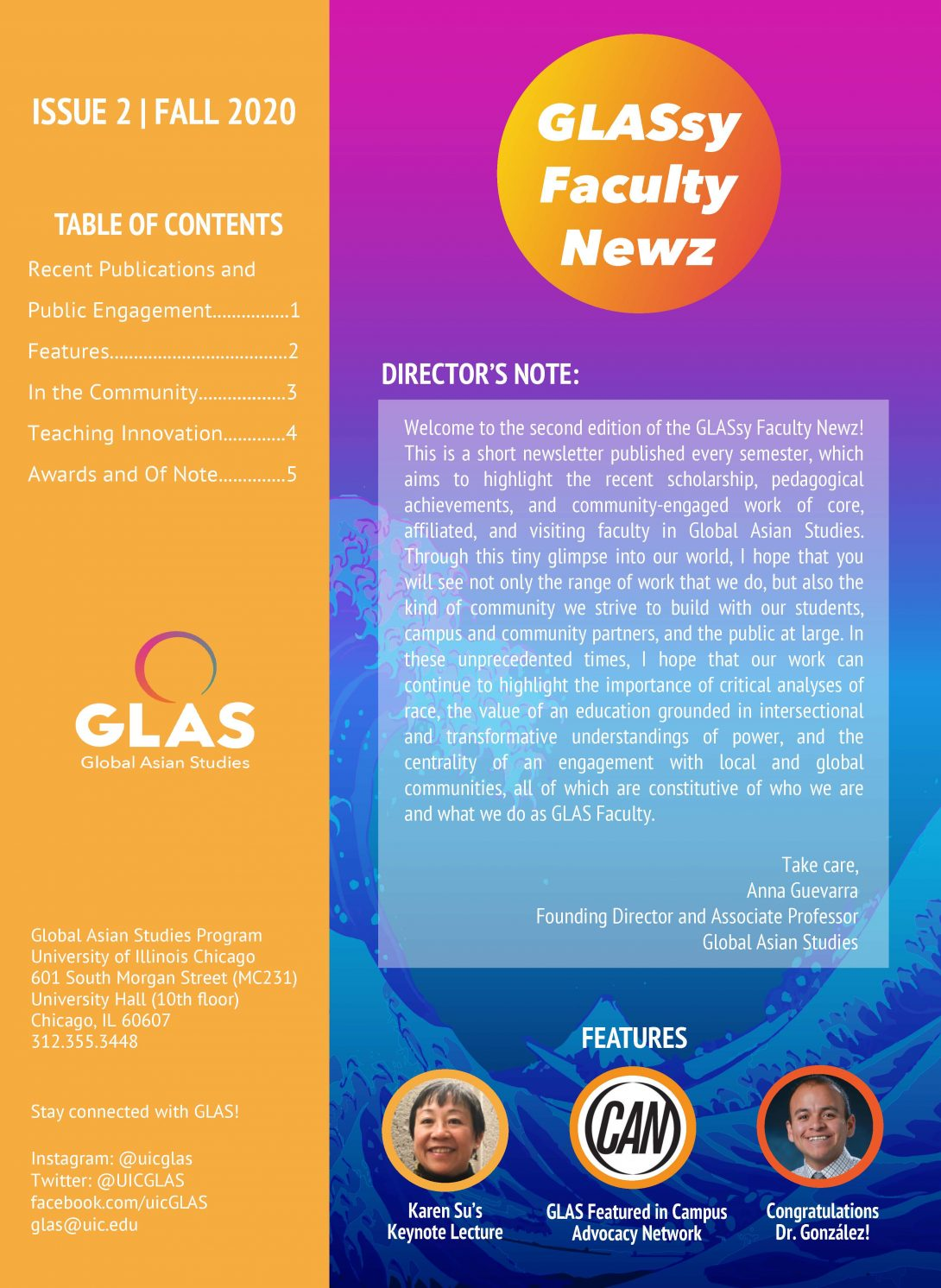 GLASzy Faculty News Issue 2