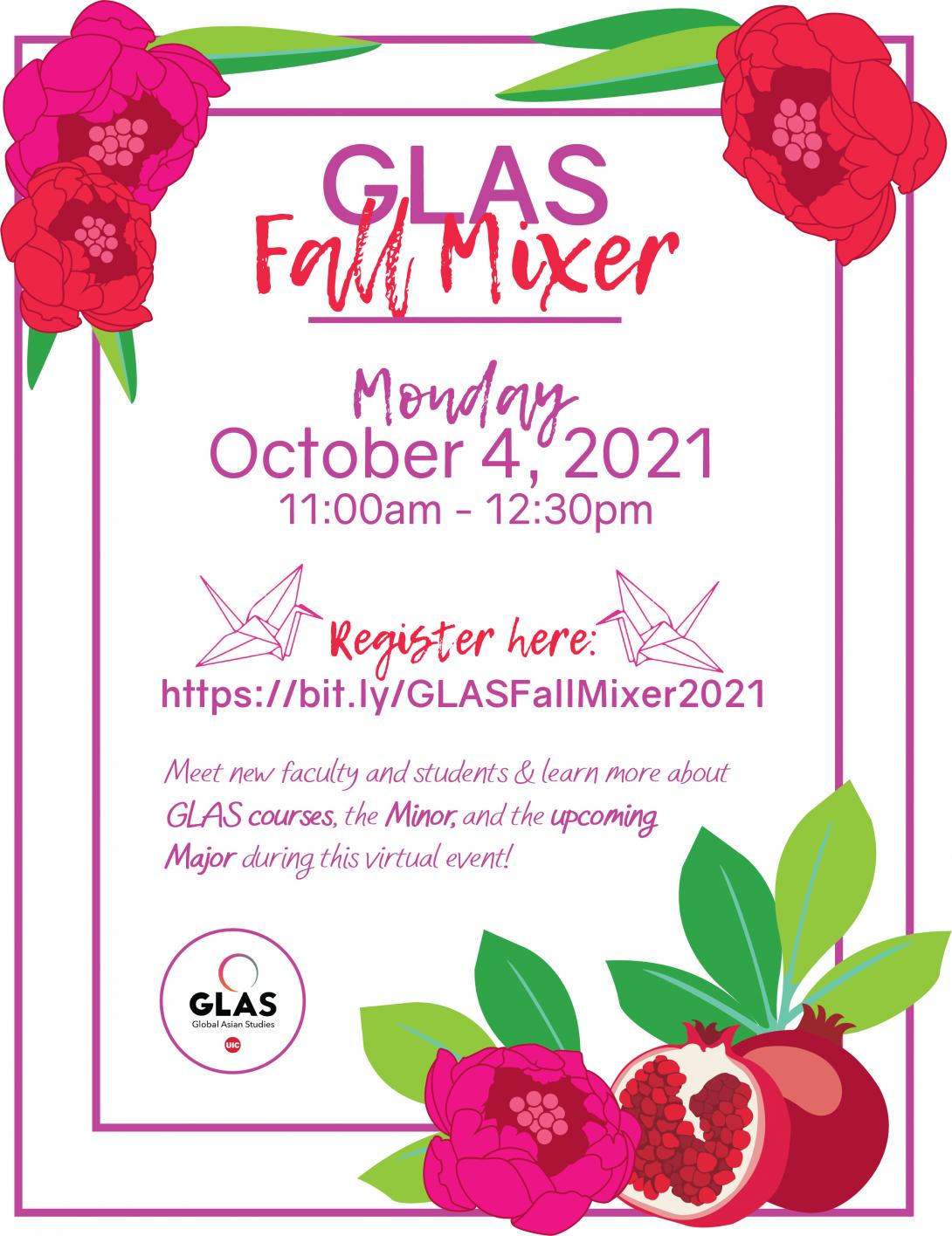 GLAS Fall 2021 Mixer